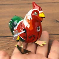 Vintage Metal Cartoon Cock Animal Clockwork Wind Up Toy Kid Children Gift
