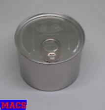 Leere Dose Pressitin 73x55mm silber 2-teilig Metalldose mit Verschluss  Neu