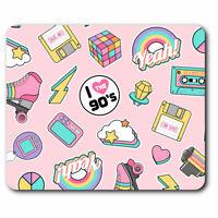 Computer Mouse Mat - Cute Girls Retro 90's Teen Office Gift #8845