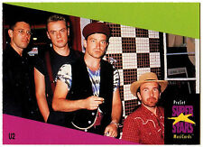 U2 #141 ProSet Super Stars MusiCards 1991 Trade Card (C376)