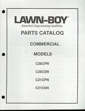 Rare Vintage Lawn-Boy Parts Catalog Commercial Mowers C20 C21 CPR CSR CPN CSN