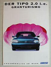 Prospekt Fiat Tipo 2.0 i. e. Granturismo, 10.1990, 4 Seiten