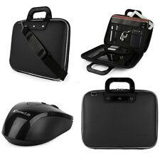 "SumacLife Leather Laptop Shoulder Bag Briefcase For 15.6"" Dell HP Lenovo + Mouse"