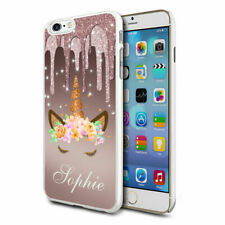Personalised Dripping Glitter Unicorn Face Phone Case Cover for Apple Samsung