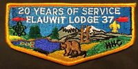 MERGED ELAUWIT OA LODGE 37 14 HUDSON-HAMILTON COUNCIL 20th YEAR OF SERVICE FLAP