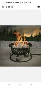 Instant Electric Ignition Flame Control Knob Gas Fire Pit 54,000-BTU Propane