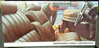 1970 Pontiac Dealer Pocket Colors & Interiors Data Book Brochure Paint Chip GTO