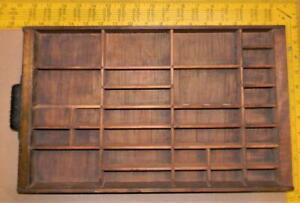 Letterpress Type Hamilton spaces leading Wood Small Drawer Tray  Case   CA57 3#