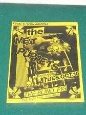 1984 THE MEAT PUPPETS ORIGINAL CONCERT HANDBILL FLYER ANN ARBOR MICHIGAN