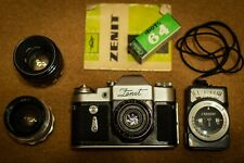 Vintage Russian Camera Zenit 3M comes with MIR-1 and Helios 44