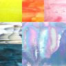 Stained Glass Mosaic sheets for art and crafts - 14.5x19cm Sheet Various Colours