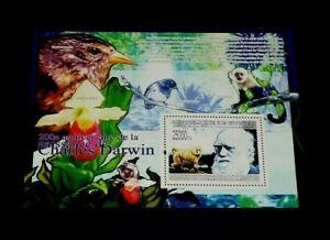 TOPICAL, ANIMALS, GUINEA, 2009, DARWIN, SOUV. SHEET, MNH, LOT #139, LQQK