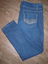 MXM Size 16 Womens Skinny Fit Medium Wash Jeans with 3 Button Closure