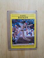 1991 Fleer Baseball Card Barry Bonds #33 Pittsburgh Pirates