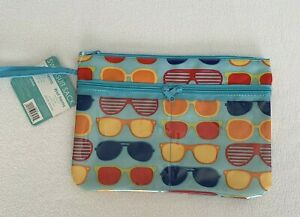 Swimsuit Beach Wet Bag Sunglass Pattern Wet Dry Bag Water Resistant Travel NWT