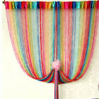 New Colorful Fringe Door Window Panel Room Divider String Curtain Strip Tassel