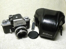 Early NIKON F Photomic 35mm SLR Film Camera w/ 50mm Lens & CTT Case. BEAUTIFUL!