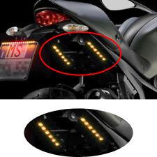 Universal Motorcycle Tail Brake Stop Turn Signal Integrated LED Light Strip 6LED