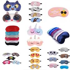 Soft Sleep Eye Mask / Travel Blindfold masks - Cotton / Silk - Men Ladies Kids
