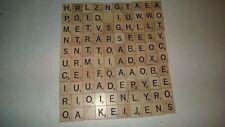 Original 100 Wood Scrabble Tiles Complete Set Crafts Scrapbooking Jewelry
