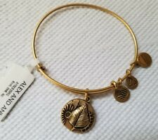 Alex and Ani Bracelet BIRCH Ruler of the Woods Rafaelian Gold Charm Bangle NW