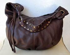 Helen Kaminski Large Soft Pebbled Brown Leather Hobo Handbag Shoulder Bag Rare!
