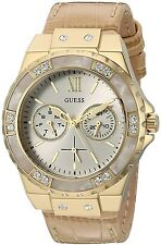 GUESS Gold-Tone Leather Ladies Watch U0775L2