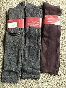 6 bamboo trouser socks long tall knee high 4 grey 2 dark maroon target size 9-11