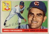 1955 Topps #77 Arnie Portocarrero VG-VGEX Wrinkle Kansas City A's FREE SHIPPING