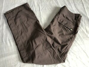 The North Face Womens Gray Nylon Lightweight Outdoor Roll Up Pants Size 2