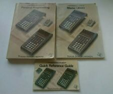 Texas Instruments TI 58/58C/59 Programmable Calculator Instructions