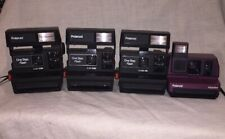 Lot of 4 POLAROID Camera - 3 One Step Flash + 1 Burgundy Impulse,Great condition