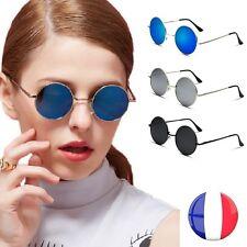 Lunettes de Soleil Homme Femme Ronde Hippy John Lennon Rétro Protection UV 400 !