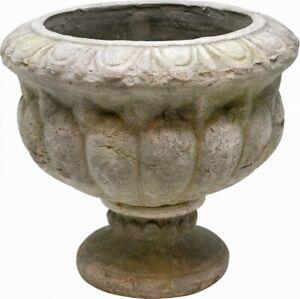 Pflanztopf Pokal groß, Zement, grau, 25 cm Blumentopf antik Pflanzschale Kelch