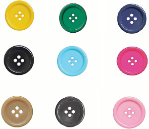 Fine Style Four Hole  Buttons Wholesale Packs