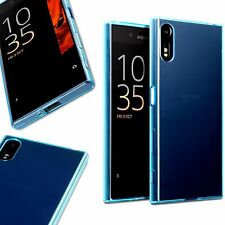 Sony Xperia XZ Case Flexible Oleophobic Gel Shock Proof TPU Rugged Bumper Blue