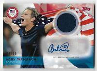 2015 Topps U.S. Olympic team relic jersey auto ABBY WAMBACH 24/50 Soccer USWNT