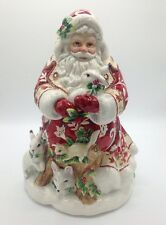 "Fitz and Floyd""Town & Country""Santa Cookie Jar New"