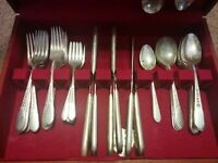Vtg Wm. Rogers Original Series PRISCILLA LADY ANN Silver Plate Pattern 48 Pieces
