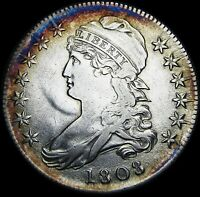 1808 Capped Bust Half Dollar   ---- Stunning Details Type Coin ---- #G838