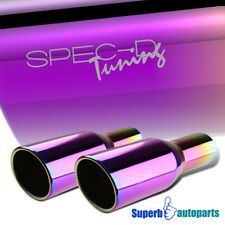 "2.5"" Inlet 3.875"" Purple Slant Titanium Burnt Ss Steel Exhaust Muffler Tip"