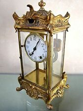 """Antique Crystal Regulator 1911 MANTEL CLOCK by """"New Haven""""- Key Wind+ Chime- GUC"""