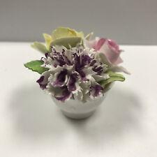 d203 Vintage Royal Adderley Floral Fine China Crown England Flower Pot