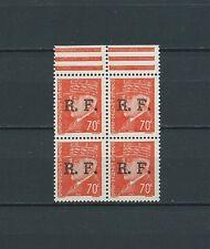 FRANCE - LIBÉRATION LYON - 1944 YT 6 bloc de 4 - TIMBRES NEUFS** LUXE