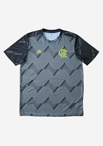 FLAMENGO X ADIDAS 2019-2020 Men's Pre-Match Shirt   Large   Grey/Black   RARE