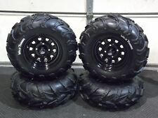"HONDA FOREMAN/RUBICON 500  25"" WILD THANG ATV TIRE ITP BLACK ATV WHEEL KIT IRS"