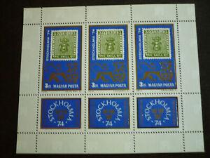 Stamps - Hungary - Scott# 2310 - Souvenir Sheet