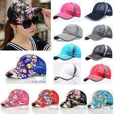 AU Women Men Summer Golf Baseball Cap Sport Mesh Curved Visor Sun Hat Adjustable