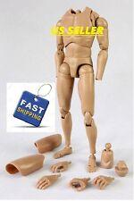 1/6 scale Male Body Narrow Shoulder Figure as hot toys TTM18 TTM19 TTM21