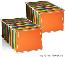 Hanging File Frames Letter Size Rails Fits 24 To 27 Files Cabinet Steel 2 Sets